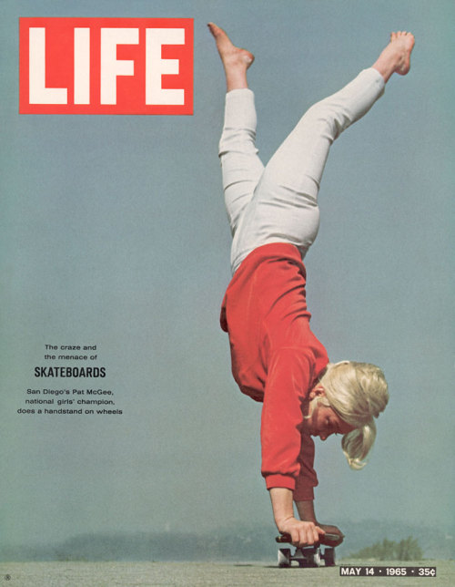 "Skateboarding, LIFE opined in 1965, is ""the most exhilarating and dangerous joyriding device this side of the hot rod. A two-foot piece of wood or plastic mounted on wheels, it yields to the skillful user the excitements of of skiing or surfing. To the unskilled it gives the effect of having stepped on a banana peel while dashing down the back stairs. It is also a menace to limb and even to life.""Read more: http://life.time.com/culture/skateboarding-photos-from-the-early-days-of-the-sport-and-the-pastime/#ixzz2M74oJgTe"