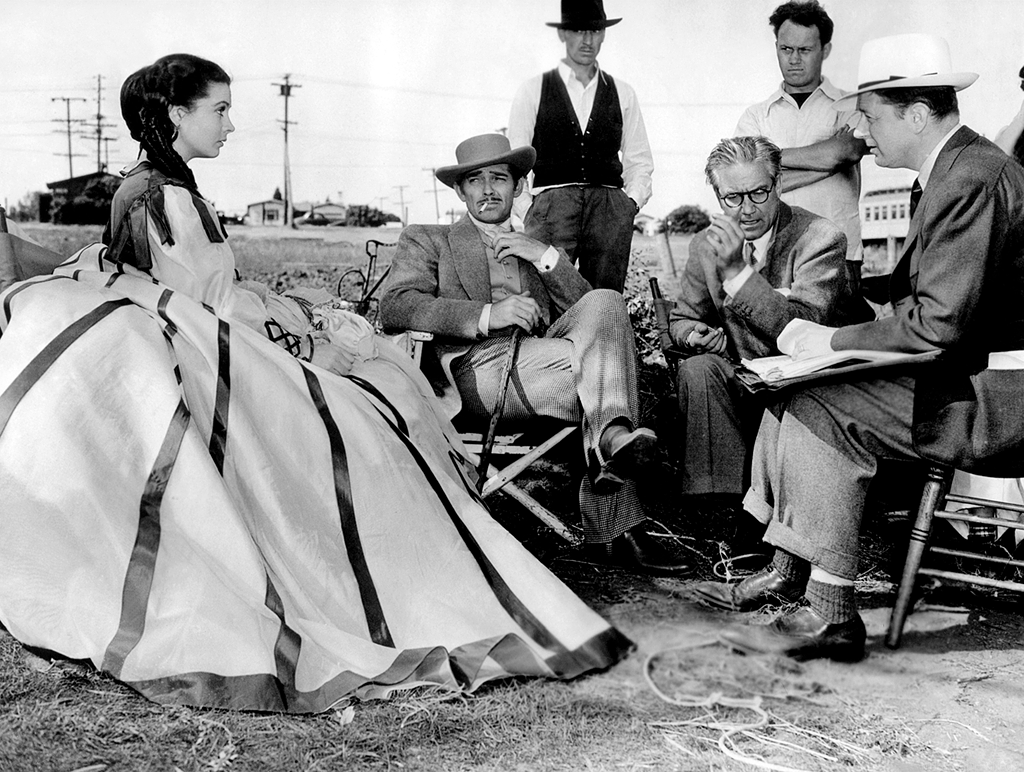 Vivien Leig and Clark Gable during the filming of Gone with the Wind