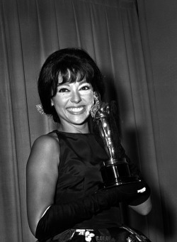 mollsattacks:  An important photo of Rita Moreno with her Oscar