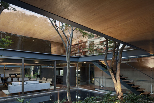 remash:  bacopari house | courtyard ~ una arquitetos