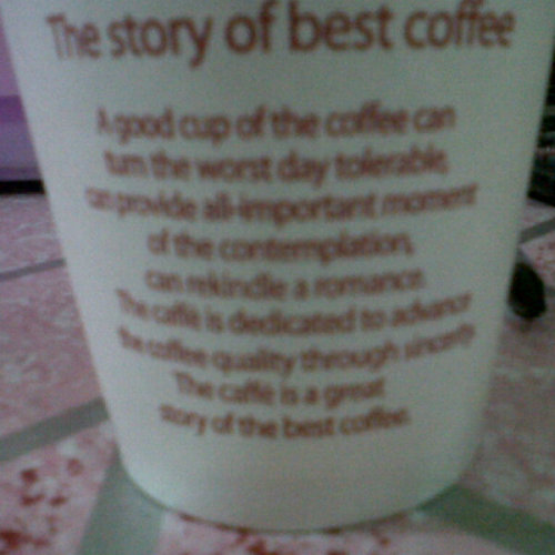 the story of best coffee. (Photo taken and uploaded via MOLOME )