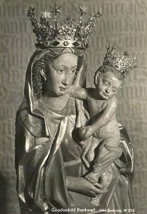 Gnadenbild Rankweil The miraculous gothic Madonna venerated in the pilgrimage church of Rankweil, Austria.