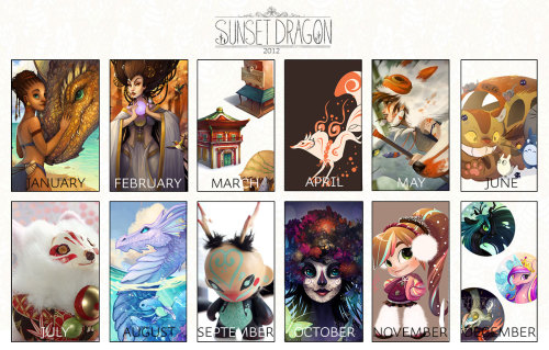 I did a lot of art in 2012 as well! Here it is by month-my most productive months seemed to be May, August and October :3 As always, thanks for all your support and I can't wait to get cracking on some new illustrations for 2013~ (did someone say more dragon scarves?!) Please do follow me on facebook!