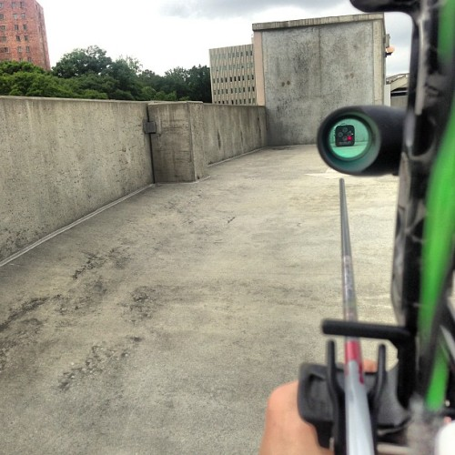 jaydicenso:  #parking garage #archery (at Allure at Brookwood)