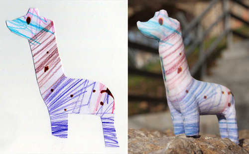 Crayon Creatures, sandstone figurines made from children's drawings