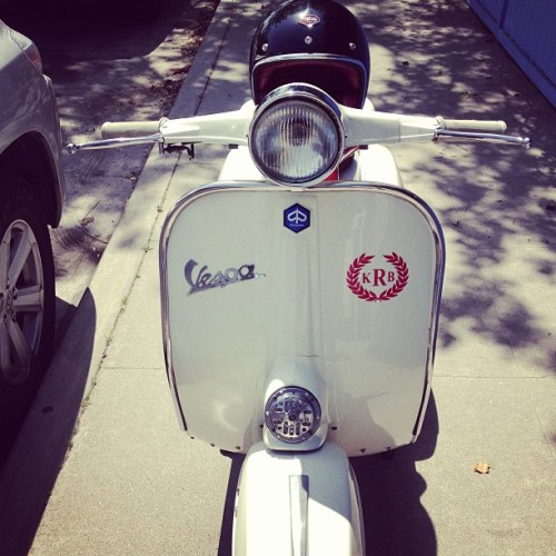 sharethelightoftheworld:  She's back! #vespa #rally200 #summer #ltd #ruby