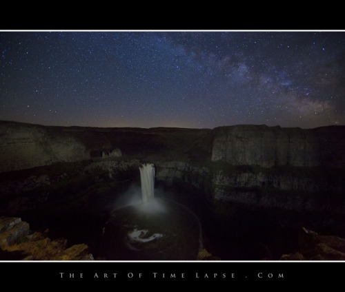 It was another clear night, so I headed out to shoot a Milky Way scene for my time-lapse.  I am working on a sequel to Purely Pacific Northwest. My timing was off for the alignment of the Milky Way over this waterfall.  I hope that everyone still likes the shot.
