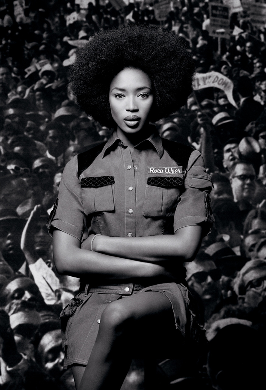 makersandmuses:    Campaign: Rocawear. Photographer: Paul Rowland. Model: Naomi Campbell. #Throwback