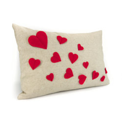 Growing Hearts Pillow Cover by ClassicByNature Hearts Everywhere for Valentine's Day! posted by http://aliljazz.tumblr.com