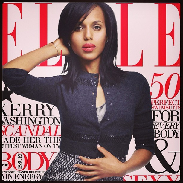 Kerry Washington on the cover of Elle… Yes, please!!