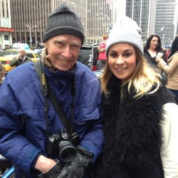 Me and Bill! #billcunningham  #nyc #fashion #photography #legend #streetstyle