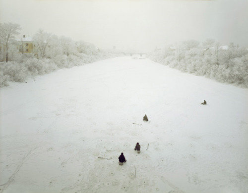 Ice Fishing, Vologda, from Andrew Moore's Russia-Ukraine series (via Andrew Moore)