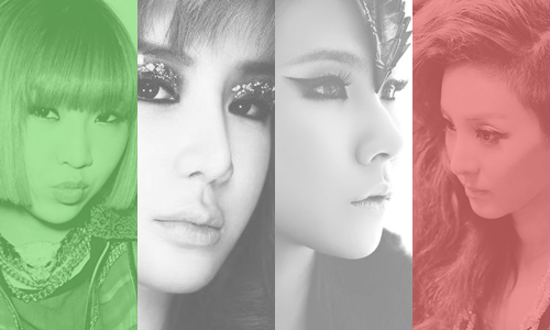 2NE1 in Green, White and Red~ req. by anon