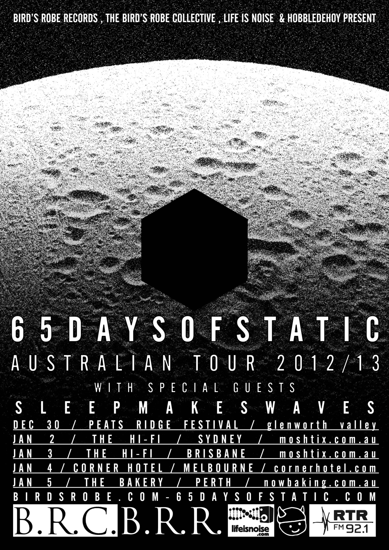I remember being introduced to 65 Days Of Static about a million years ago, liking them at the time and then forgetting about them. But now they are touring and it jogged my memory and I'm a bit excited. Head along to one of the dates if you get the chance!