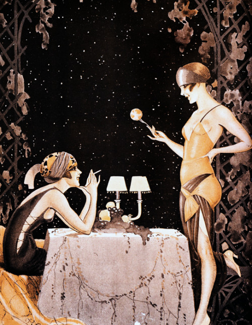 vintagegal:  Illustration by Vald'Es for La Vie Parisienne c. 1923