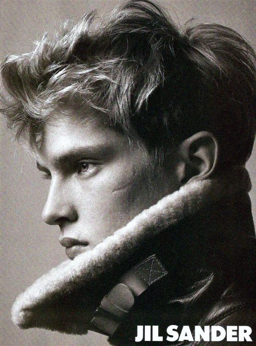 Mathias Lauridsen by David Sims for Jil Sander Fall 2004 ad campaign.