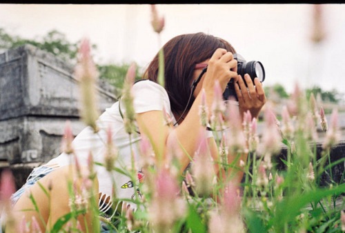 Girl with film Camera by Pankha Nikon on Flickr.Via Flickr: Nikon FM Kodak Color Plus 200 Film