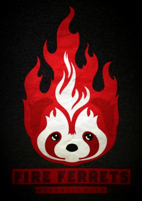 Here's a poster of the #FireFerrets logo!   *from the shirt that I got.