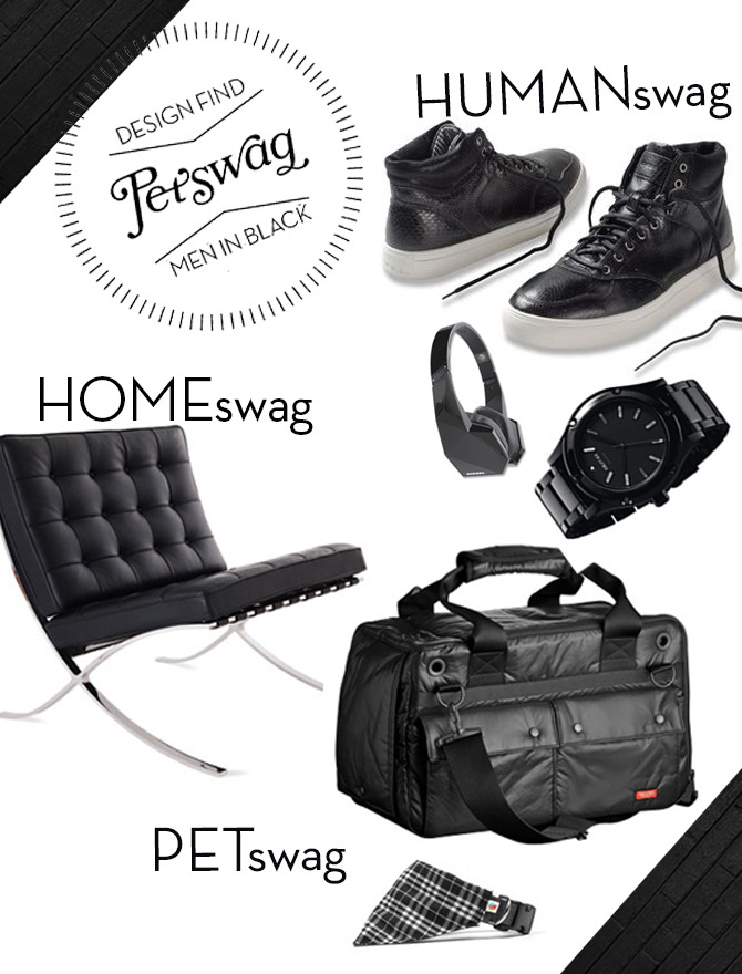 HUMANswag: Diesel Sneakers, Diesel headphones, Nixon watch HOMEswag: Barcelona chair  PETswag: Free Stitch carrier, Wildebeest bandana