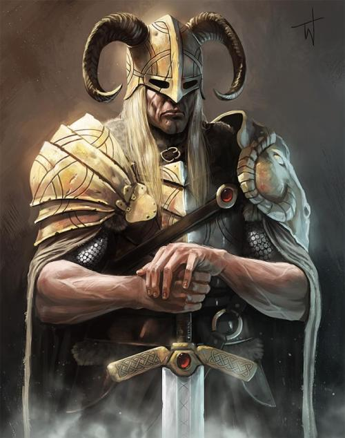 thejollymidgardian:  Viking by Thomas Wievegg
