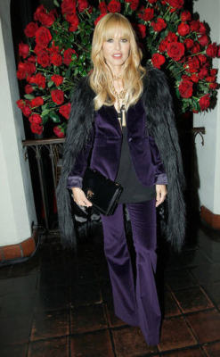 In head to toe collection at Alberta Ferretti's fashion show and dinner at Chateau Marmont - get the look: http://pose.com/p/2pmos