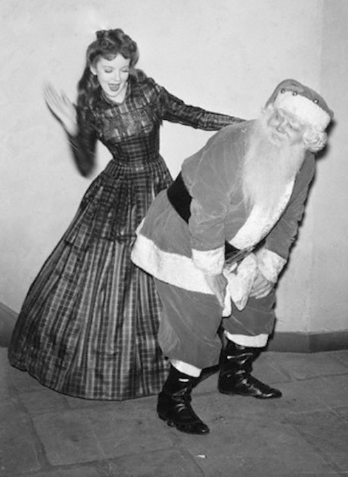 Ida Lupino shows Santa who's boss.