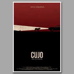 New King inspired horror movie poster designs. Check out this Cujo art.