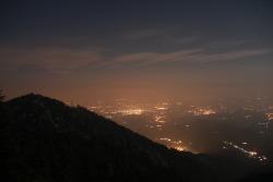 Vista notturna di Monte Moro da Malanotte. Agosto 2013.©Diego Vinai