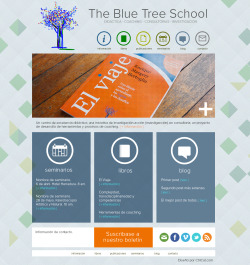 Diseño de página web para The Blue Tree House