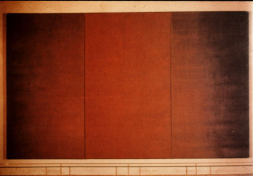 theredshoes:  Mark Rothko (1903-1970) Centre Triptych for the Rothko Chapel 1966