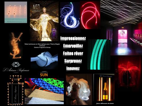 éclairage LED sans fil, tissu lumineux, fibre optique diffusante conçu & fabriqué en France brevets - Innovation de l'éclairage MIDLIGHTSUN