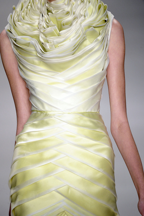 selinasandersdesign:  Details. Ruffles. Sao Paulo   This reminds me of lettuce. In a good way?