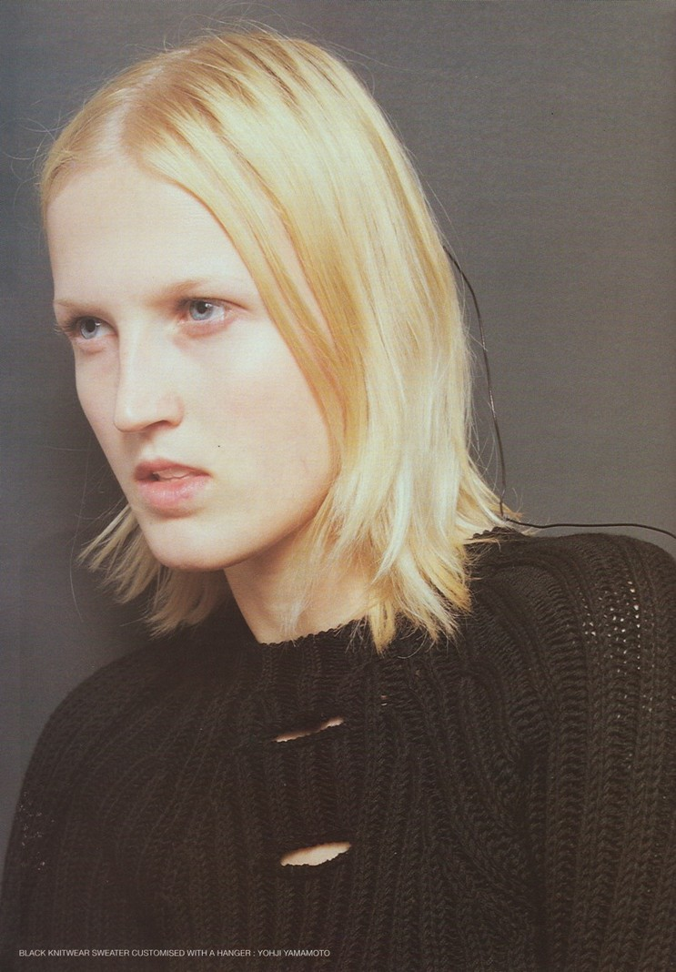"""Unique"" Radana Kasparova by Bettina Komenda for Self Service F/W 1997"