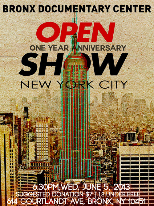 Open Show New York City Submissions Deadline - Tomorrow May 21! Submit your work to be considered for the June 5th, Open Show which will be held at the BDC. Join us for a bbq at 6:30pm and the screening at 8pm. Food and drink will be available for purchase. Donations at the door help support Open Show and BDC. Submit Work Here: http://openshow.org/submissions/