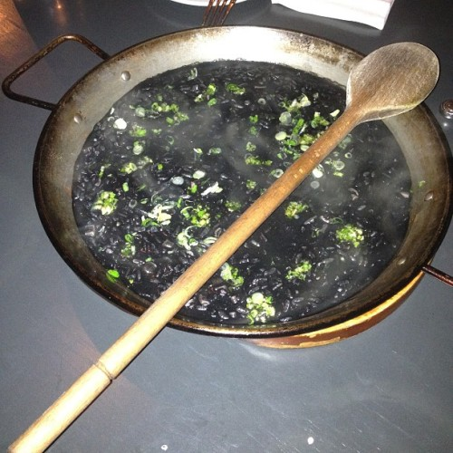 Most awesome #squidink #paella must try!  (at Bomba Paella Bar)