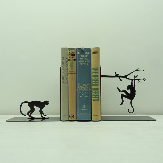 knobcreekmetalarts:  Monkey Bookends