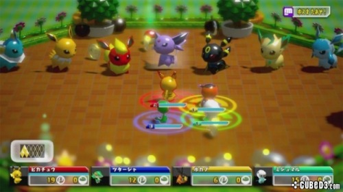 "Pokemon Rumble U for Wii U will use NFC! Toy Pokémon have been lost from the shop after falling in the river. You need to find them and get them to the Toy Shop. Initially 6 standard figures, as well as 1 special figure, will be for sale on launch day (April 24th). Pokémon Rumble U will be the first Wii U title to use the console's ""NFC"" capability. Near Field Communication is a feature where real-life objects can be read by the Wii U GamePad, and have in-game effects.   Pokémon Rumble U is a follow-up to Pokémon Rumble on WiiWare and Pokémon Rumble Blast on the Nintendo 3DS. The game will support up to four players, and will feature all 649 Pokémon from previous generations, with up to 100 in battle at once."