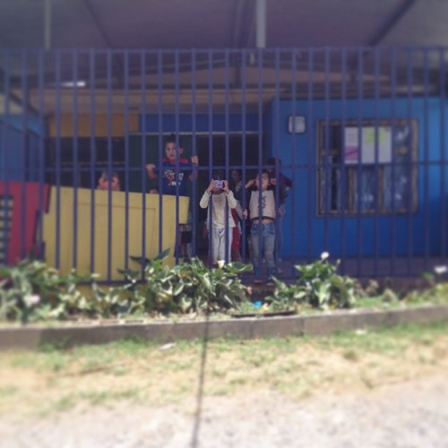 Cute kids at a church in the area of Guadalupe in San Jose, Costa Rica #puravida #shredcosta