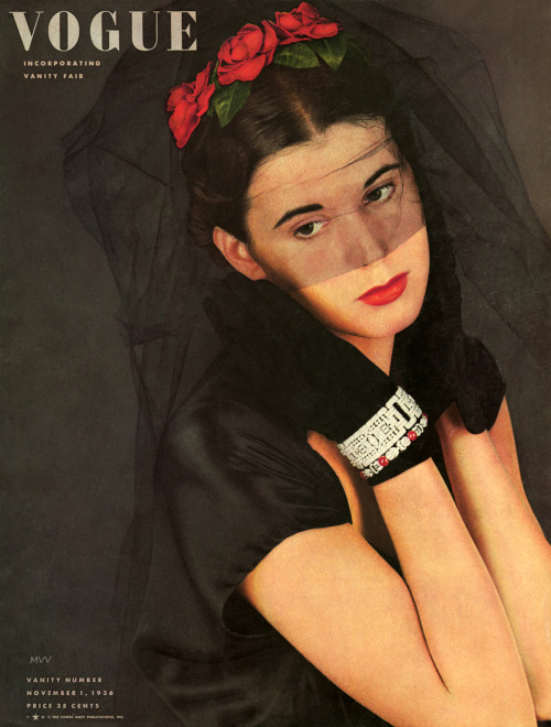 myvintagevogue:  Vogue November 1936 / Conde Nast new to the archive