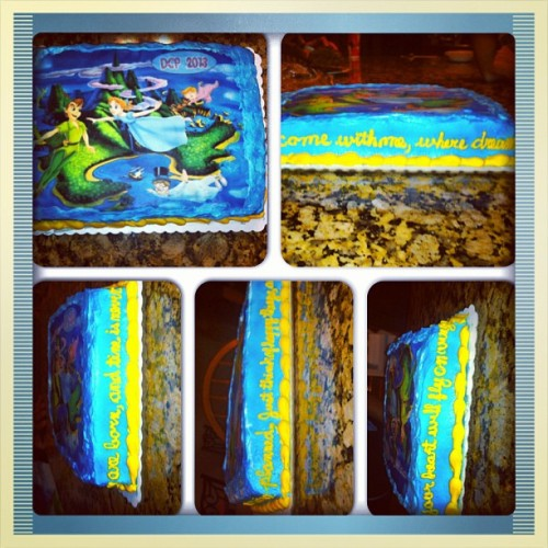 beautifully—suicidal:  #instacollage #peterpan #dcp #cake