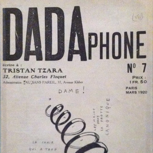 DADA zine at the V&A