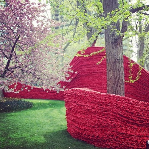 Orly Genger rope installation  at Madison Square Park. #artinstallation #newyork #art #publicspace