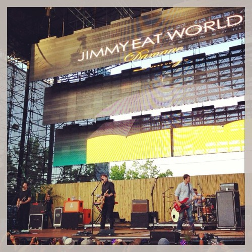 .   JIMMY EAT WORLD ~ Live ~ KROQ Weenie Roast Verizon Wireless Amphitheater May 18th, 2013 Irvine, CA    #MichaelRaven #2013 #Life #CA #California #Photography #Photo #Irvine #LA #Picture #MichaelRavensPhotography #Music #Rock #Pop #Live #JimmyEatWorld #KROQ #Radio #LiveMusic  (at Verizon Wireless Amphitheatre)