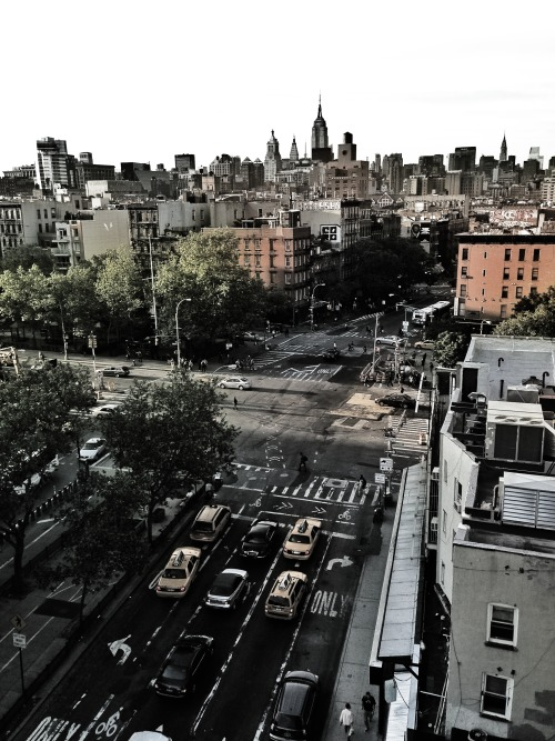stefantrocha:  Lower East Side/East Village seen from Thompson LES Rooftop.