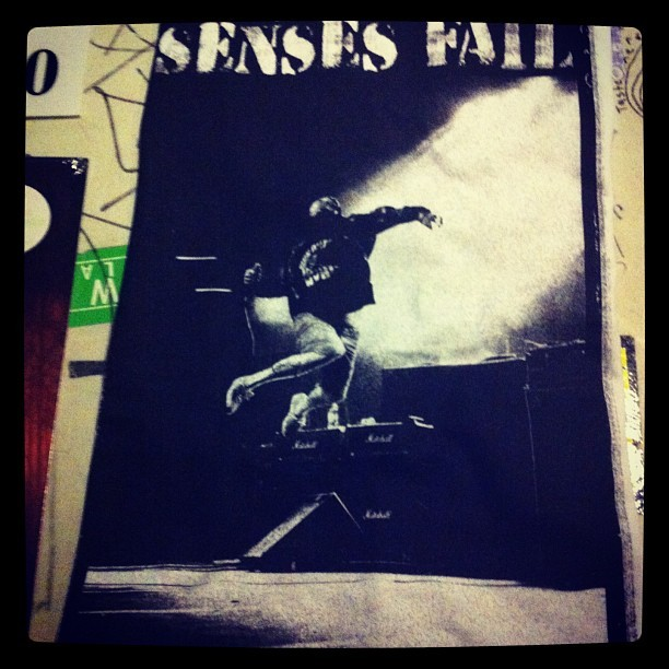 Remember that time my photo of Senses Fail was used on a t-shirt? Buy that shit on their current tour! (at the door dallas)