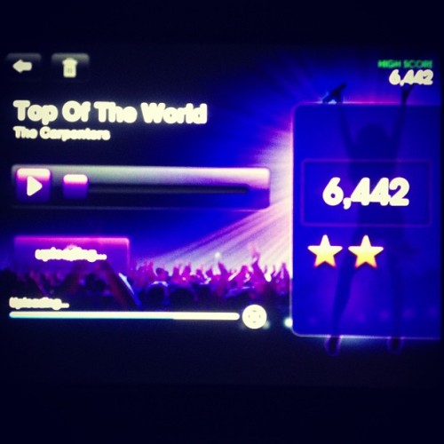 Singing my Heart out at Starmaker! 👍🎤🎶 #starmaker #loading #score #havetobeatthescore #apps #nice #bestapp #singing #topoftheworld #carpenters