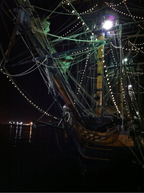Here's Surprise's figurehead plus lights!