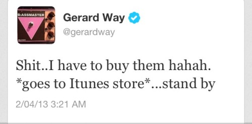bobbryars:  HE'S BUYING HIS OWN MUSIC I'M IN TEARS