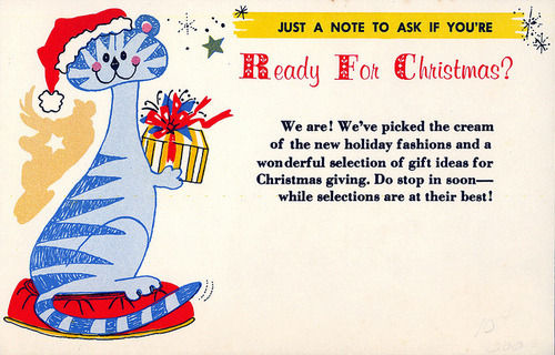 Salesman Sample Christmas Advertising Postcard by Neato Coolville on Flickr.