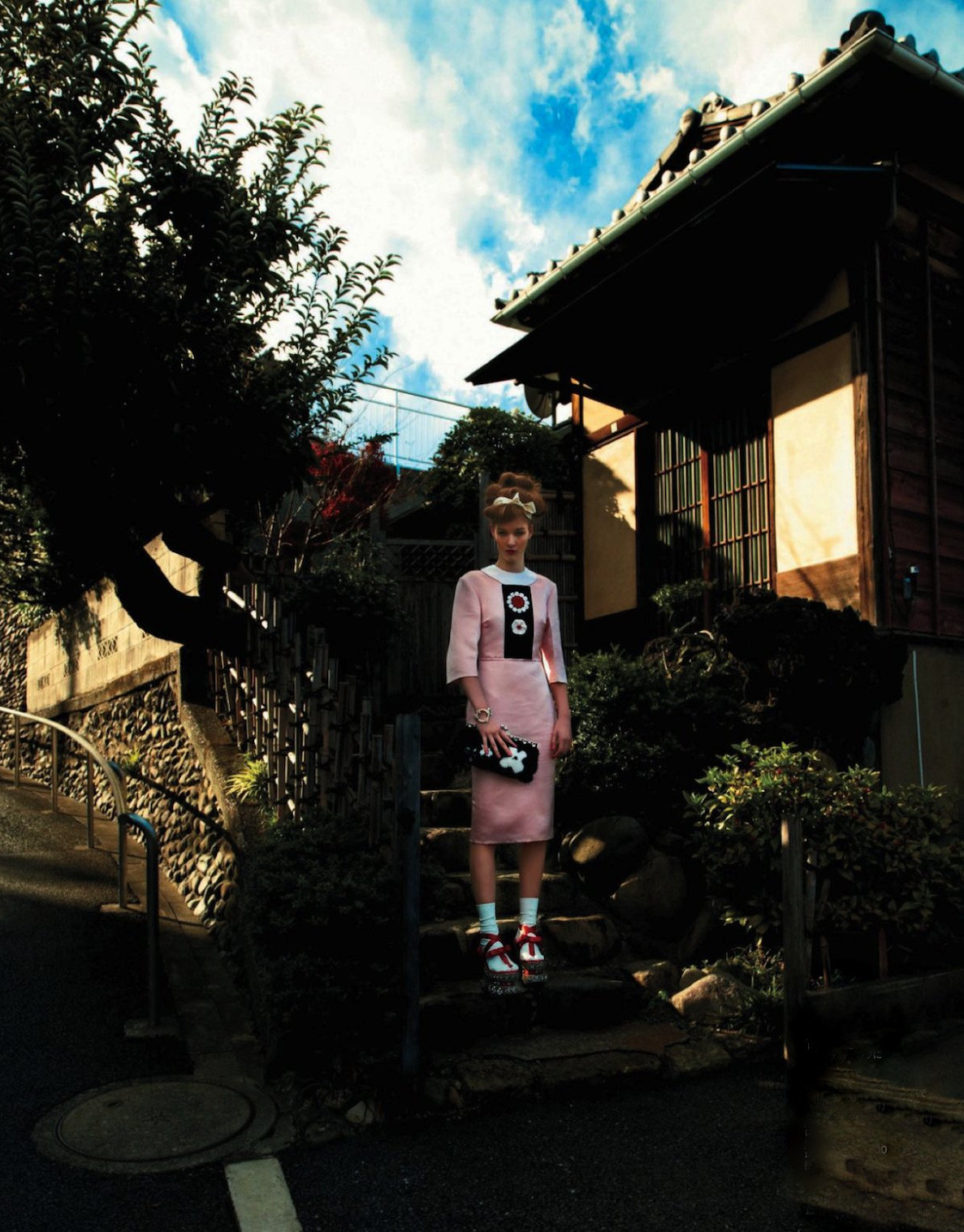 """A Little Walk in Tokyo""Elena Bartels in ELLE Japan, March 2013  photographed by Tisch"